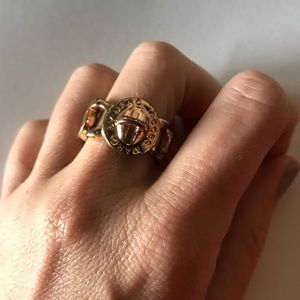 Marc Jacobs Rose Gold Coin Logo Ring